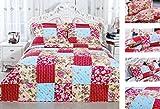 100% Cotton Vermicelli Quilt set, Reversible, 200 count Patchwork Pieced ...